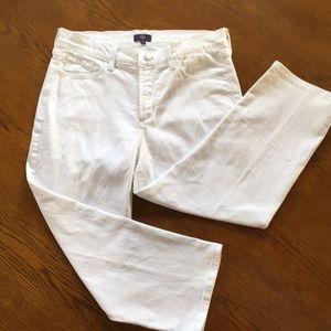 NYDJ Lift & Tuck Crop Jeans fancy rear pockets 8